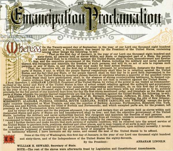 Text of the Emancipation Proclamation, 1865