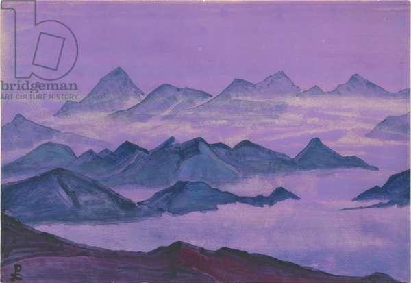 Himalayas. Album leaf, 1934 (tempera on paper)