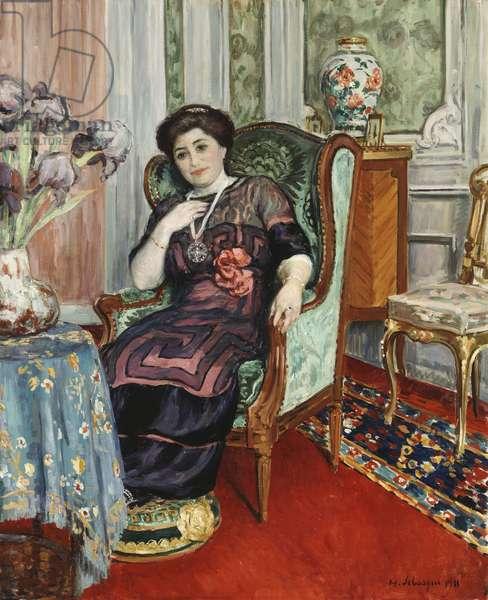 A Woman Sitting in a Chair; Femme Assis dans un Fauteuil, 1911 (oil on canvas)