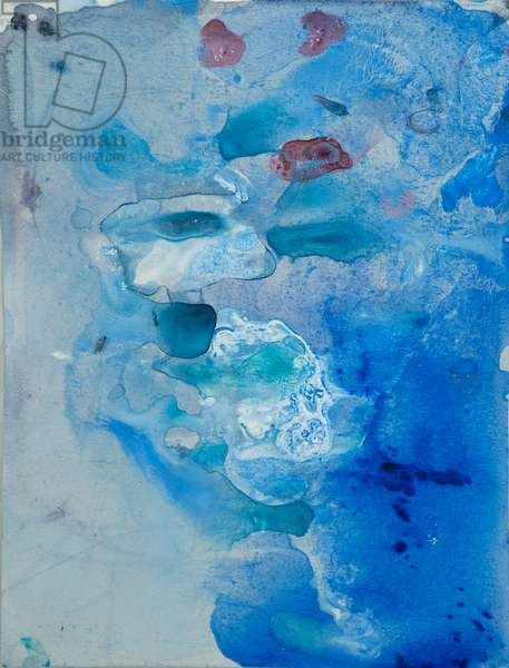 Arctic Ice Painting: 90N2, 2008 (North Pole Ice, acrylic, and mixed media on paper)