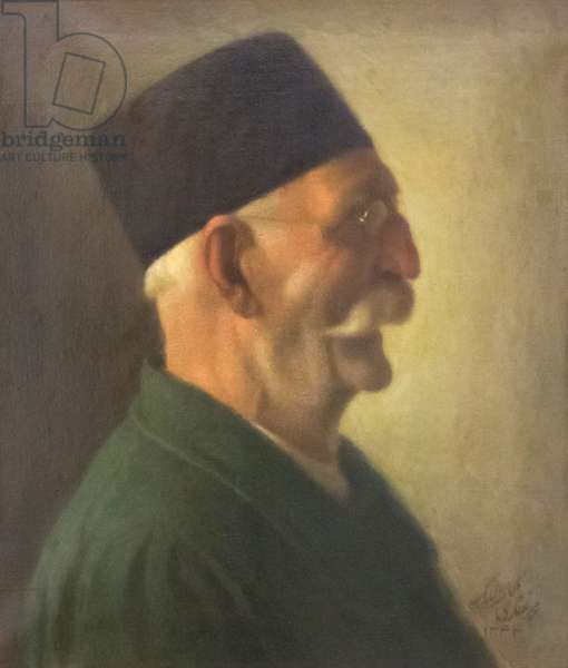 Self portrait, Kamal-ol-Molk, oil on canvas, fine arts museum, Sa'd Abad museum complex, Tehran, Iran