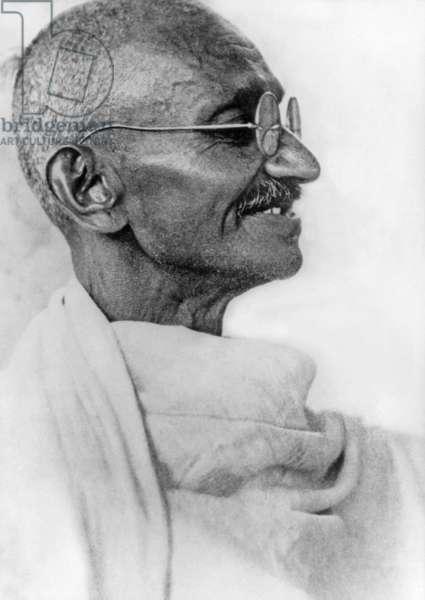 Mahatma Mohandas Karamchand Gandhi (1869-1948) Politician, Spiritual Leader and Indian Nationalist C.1939 (b/w photo)