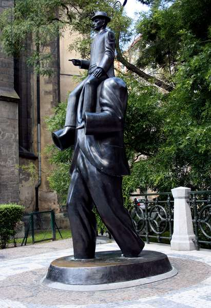 Franz Kafka statue by