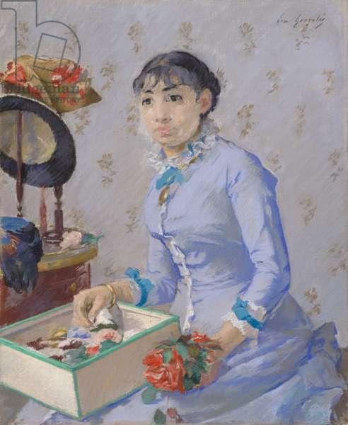 The Milliner, c.1877 (pastel & w/c on canvas)