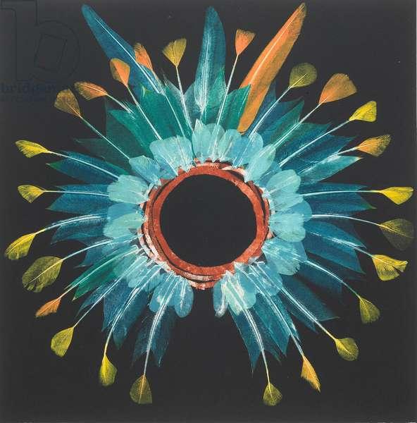 Blue Headdress, 20017, monoprint