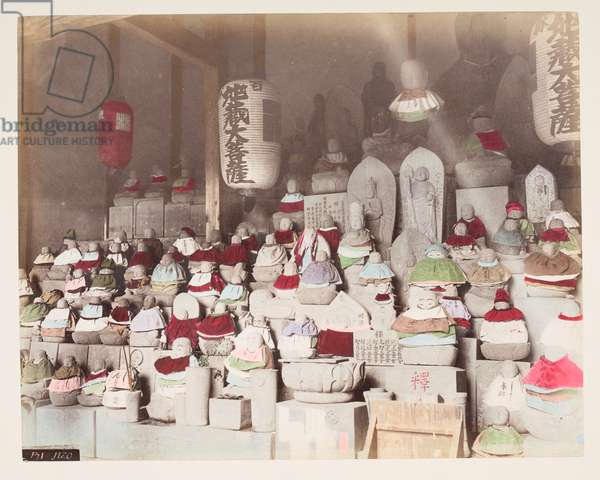 Jizo, from A Book of Coloured Photographs of views in Japan, 1895 (coloured photo)