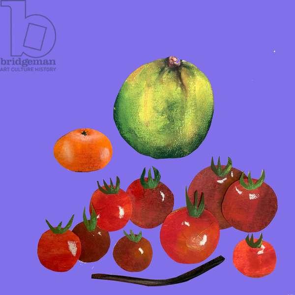 Fruit & veggies ,2020,cutout