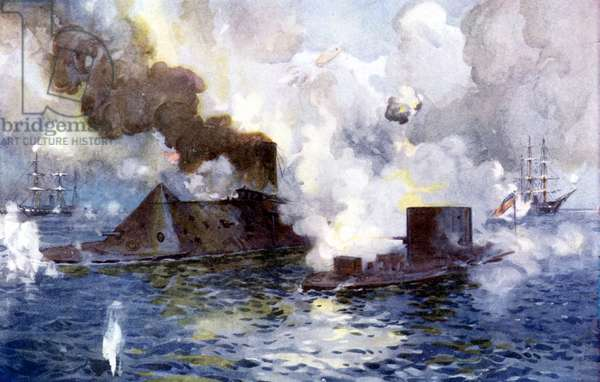 American Civil War, battle of ironclads
