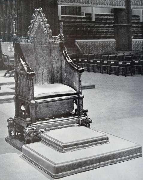 Coronation Chair, 1890