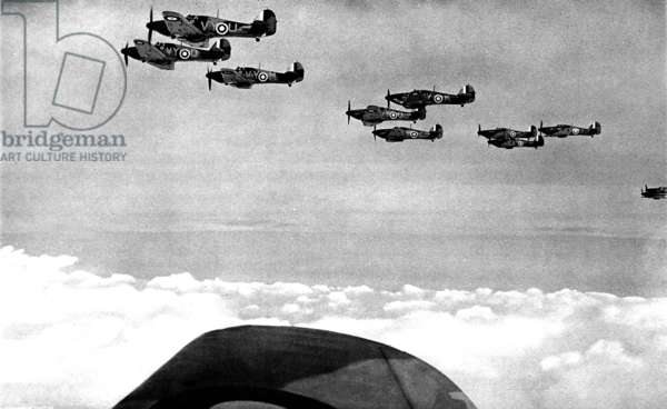 Hawker 'Hurricanes' in formation