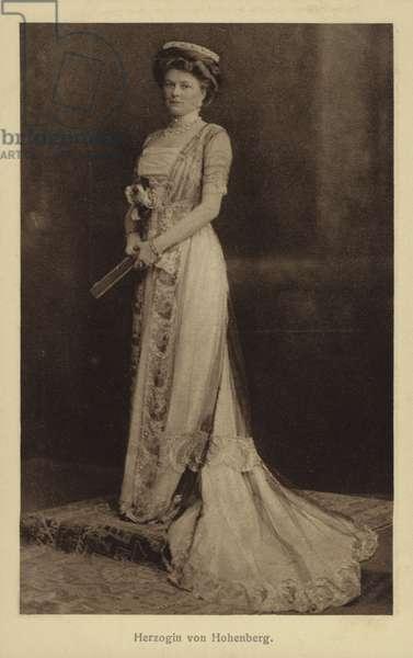 Sophie, Duchess of Hohenberg, wife of Archduke Franz Ferdinand of Austria. (b/w photo)