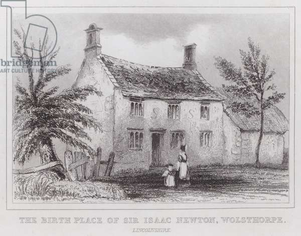 The birth place of Sir Isaac Newton, Wolsthorpe, Lincolnshire (engraving)