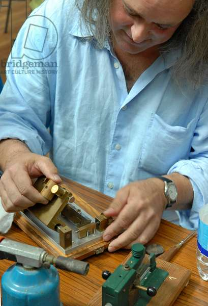 Oboe reed being made