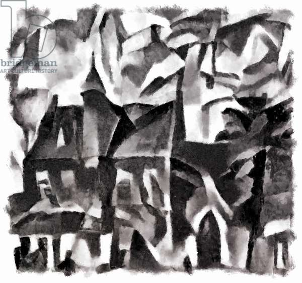 view (black) #3,2016,(mixed media)