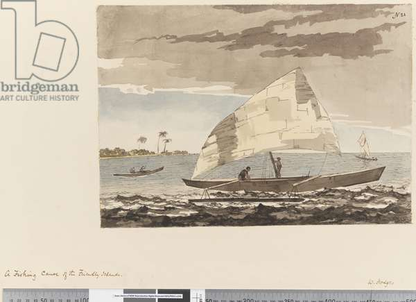Page 21 A Fishing canoe of the Friendly Islands, 1768-75 (w/c)