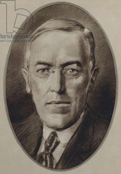 Portraits of American Statesmen: Woodrow Wilson (litho)