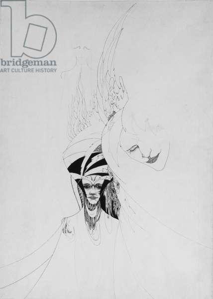 Symbolistic figures (pencil, pen & ink on paper)