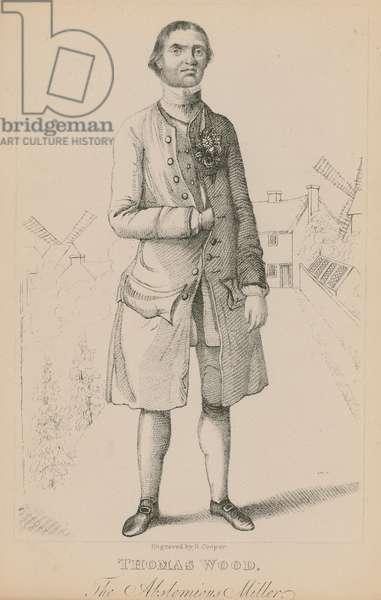 Thomsa Wood, the abstemious miller (engraving)