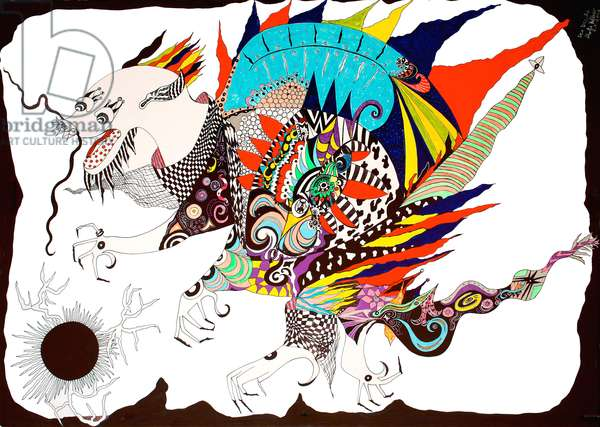 Chinese Dragon, 2012 (ink on paper)