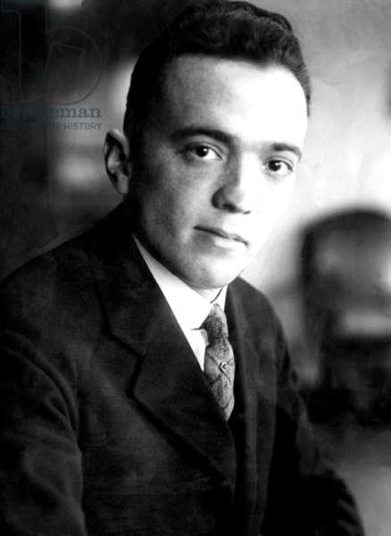 J. Edgar Hoover, founder of the Federal Bureau of Investigation. ca 1920s