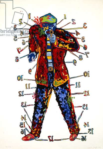Personage, 1985 (acrylic & ink on paper)