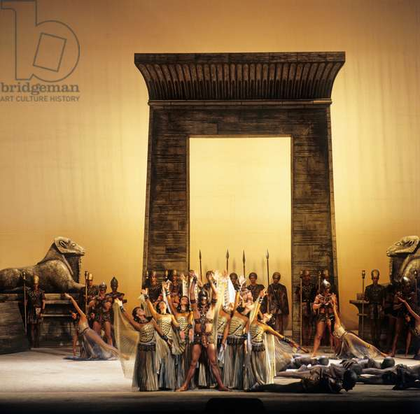 Aida - scene from the opera by Giuseppe Verdi, performed at the Salzburg Festival in 1979. Italian composer, 9 or 10 October 1813 - 27 January 1901.