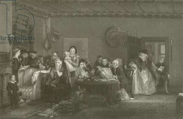 Reading the Will (engraving)
