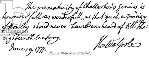 Horace Walpole (E of Oxford) (engraving)