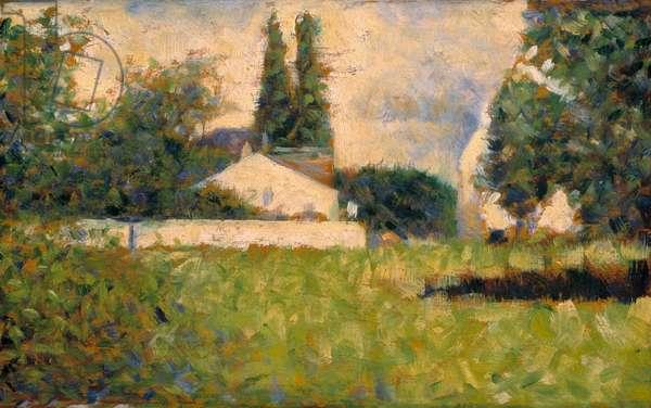 House among trees / Maison dans les Arbres, c.1883 (oil on panel)