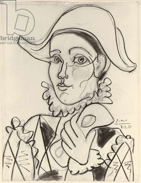 Arlequin, 1961 (charcoal on paper)