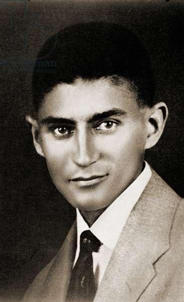 Portrait of Franz Kafka, (1883 – 1924) (b/w photo)