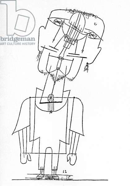 Self portrait by Paul Klee (1879-1940), 1922 (drawing)