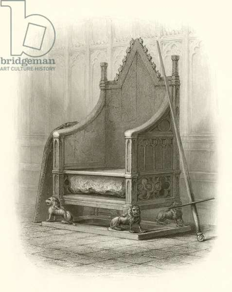 Coronation Chair in Westminster Abbey (engraving)
