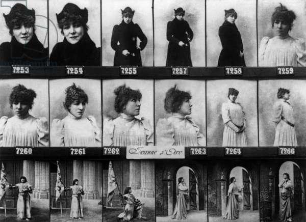 French Actress Sarah Bernhardt (1844-1923) as Jane of Arc, 1890