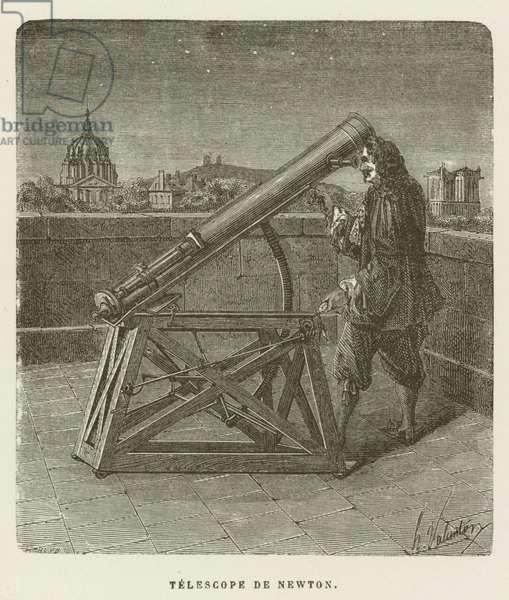 Telescope de Newton (engraving)