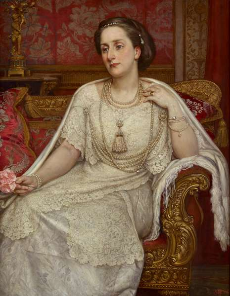 Portrait of Lady Edith, wife of Henry, 7th Duke of Northumberland, 1906 (oil on canvas)