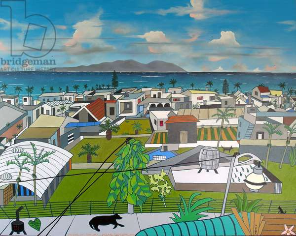Dulan village view, 2016, oil on canvas