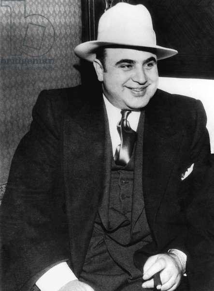 American Gangster Al Capone (b/w photo)
