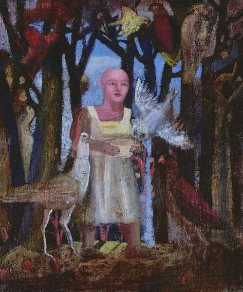 Sta. Francesca and the Birds, 1944 (oil on canvas)