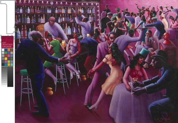 Nightlife, 1943 (oil on canvas)