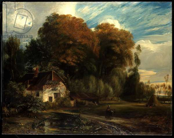 Caretaker's Cottage in the Forest of Compiegne, 1826 (oil on canvas)