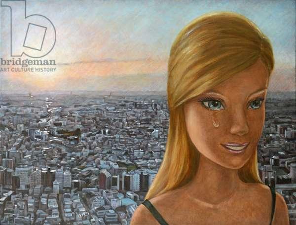 Barbie in Twilight, 2012, (oil on canvas)