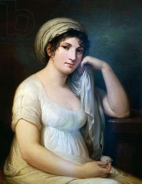 Portrait of Princess Belgioioso d'Este, painting by Andrea Appiani (1754-1817), Italy, 18th century