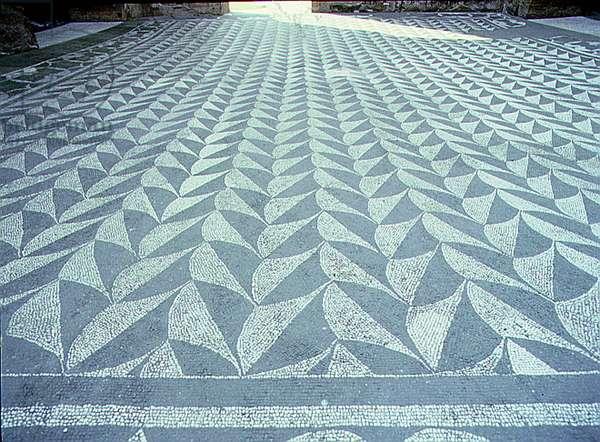 Mosaic floor, Baths of Caracalla, Rome