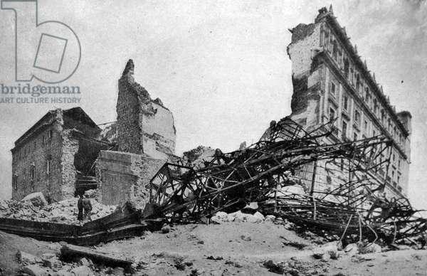 destruction in Toledo during the spanish civil war 1937
