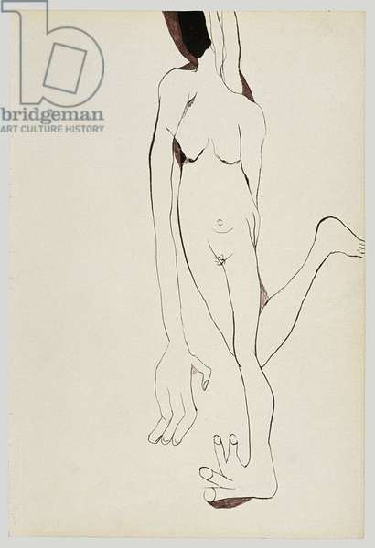 Naked Woman, 1940 (ink on paper)