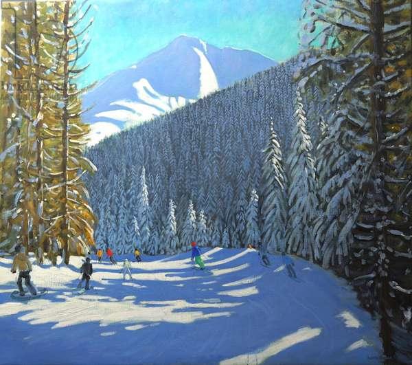 Skiing, Beauregard La Clusaz, 2012 (oil on canvas)