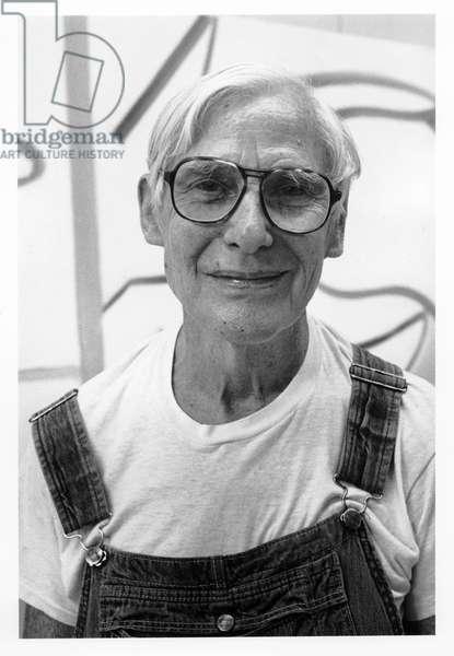 Willem de Kooning, East Hampton, New York, 1985 (b/w photo)