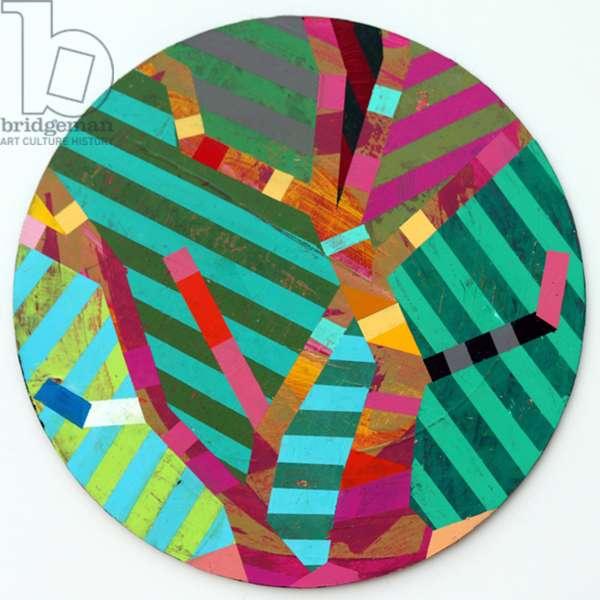 Twixt Heaven & Earth XII-A (acrylic on circular board)