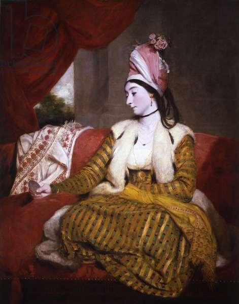 Mrs Baldwin in Eastern Dress, 1782 (oil on canvas)